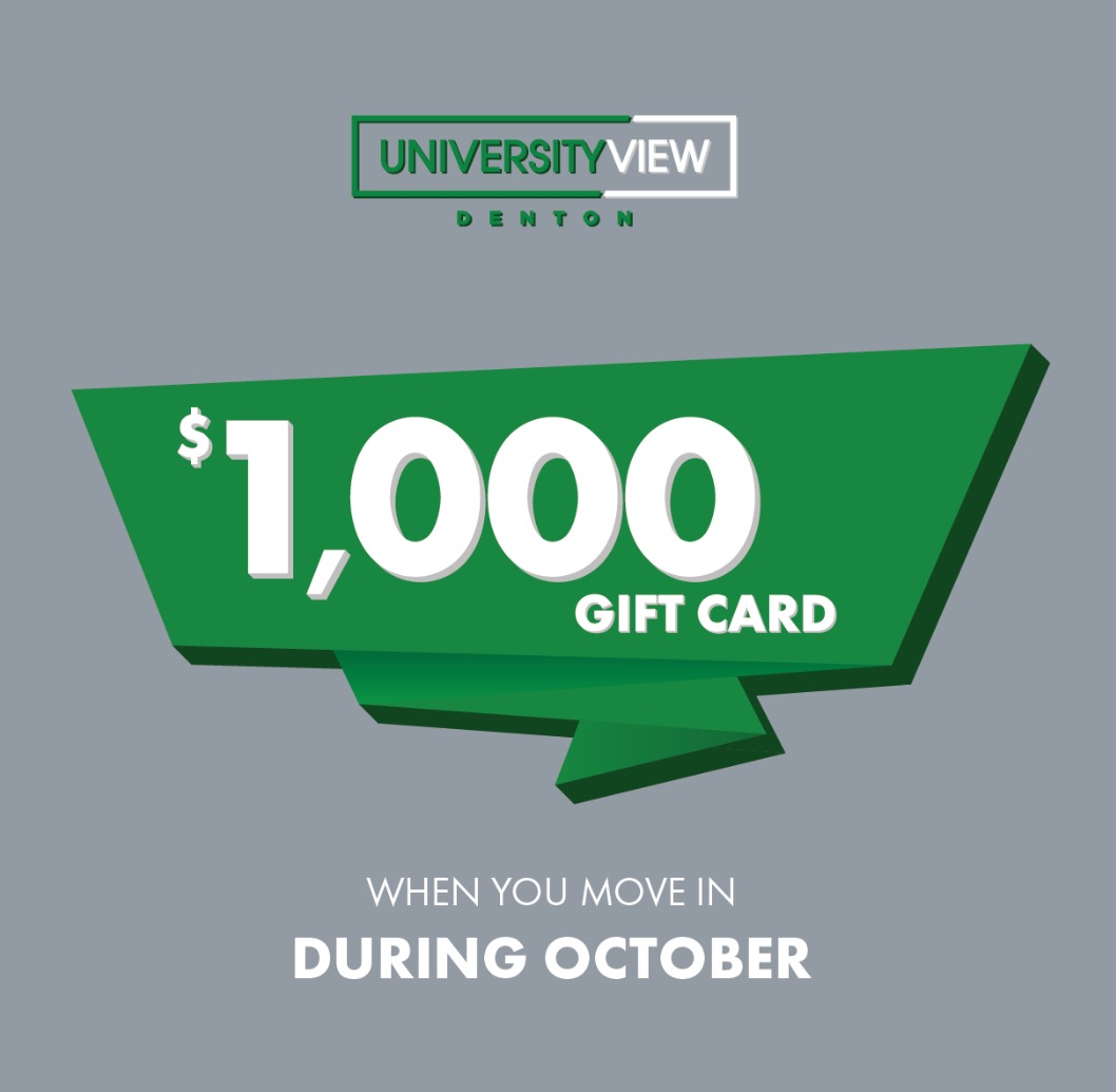Move In During October Receive $1000 (Expired)